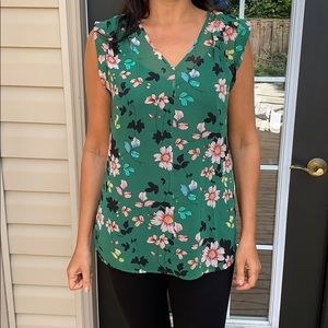 Green top with detachable black cami